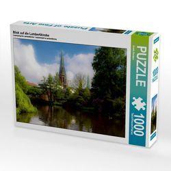 CALVENDO Puzzle Blick auf die Lambertikirche 1000 Teile Lege-Größe 64 x 48 cm Foto-Puzzle Bild von Erwin Renken von Renken,  Erwin