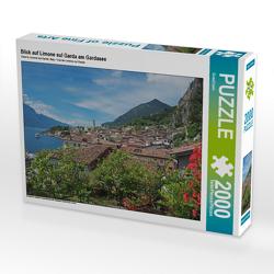 CALVENDO Puzzle Blick auf Limone sul Garda am Gardasee 2000 Teile Lege-Größe 90 x 67 cm Foto-Puzzle Bild von SusaZoom