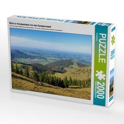 CALVENDO Puzzle Blick in Voralpenland von der Kampenwand 2000 Teile Lege-Größe 90 x 67 cm Foto-Puzzle Bild von SusaZoom