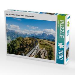CALVENDO Puzzle Blick ins Grödner Tal und zu den Geißler Spitzen 1000 Teile Lege-Größe 64 x 48 cm Foto-Puzzle Bild von Christoph Maas
