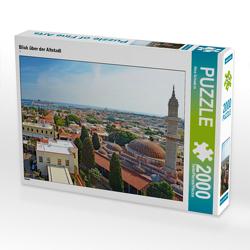 CALVENDO Puzzle Blick über der Altstadt 2000 Teile Lege-Größe 90 x 67 cm Foto-Puzzle Bild von Nina Schwarze