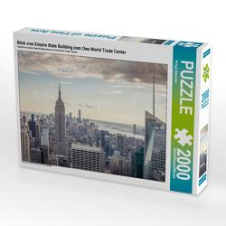 CALVENDO Puzzle Blick vom Empire State Building zum One World Trade Center 2000 Teile Lege-Größe 90 x 67 cm Foto-Puzzle Bild von Philipp Blaschke