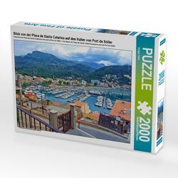 CALVENDO Puzzle Blick von der Placa de Santa Catarina auf den Hafen von Port de Sóller 2000 Teile Lege-Größe 90 x 67 cm Foto-Puzzle Bild von Holger Felix