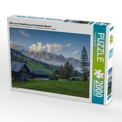 CALVENDO Puzzle Blick von Schladming zum Dachstein-Massiv 2000 Teile Lege-Größe 90 x 67 cm Foto-Puzzle Bild von Christian Müringer