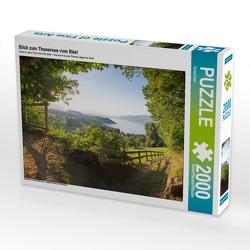 CALVENDO Puzzle Blick zum Thunersee vom Büel 2000 Teile Lege-Größe 90 x 67 cm Foto-Puzzle Bild von SusaZoom