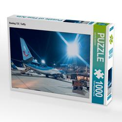 CALVENDO Puzzle Boeing 737, Tuifly 1000 Teile Lege-Größe 64 x 48 cm Foto-Puzzle Bild von aeroTELEGRAPH