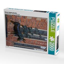CALVENDO Puzzle Bremer Stadtmusikanten 2000 Teile Lege-Größe 67 x 90 cm Foto-Puzzle Bild von kattobello