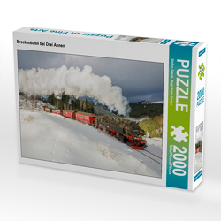CALVENDO Puzzle Brockenbahn bei Drei Annen 2000 Teile Lege-Größe 90 x 67 cm Foto-Puzzle Bild von Steffen Gierok