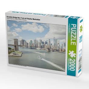 CALVENDO Puzzle Brooklin Bridge New York mit Skyline Manhattan 2000 Teile Lege-Größe 90 x 67 cm Foto-Puzzle Bild von Philipp Blaschke