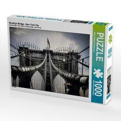 CALVENDO Puzzle Brooklyn Bridge – New York City 1000 Teile Lege-Größe 64 x 48 cm Foto-Puzzle Bild von Oliver Pinkoss Photostorys von Pinkoss Photostorys,  Oliver