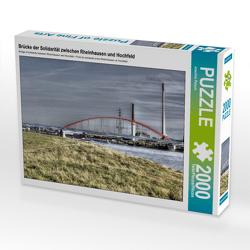 CALVENDO Puzzle Brücke der Solidarität zwischen Rheinhausen und Hochfeld 2000 Teile Lege-Größe 90 x 67 cm Foto-Puzzle Bild von Joachim Petsch