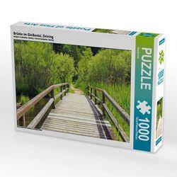 CALVENDO Puzzle Brücke im Gleißental, Deining 1000 Teile Lege-Größe 64 x 48 cm Foto-Puzzle Bild von SusaZoom