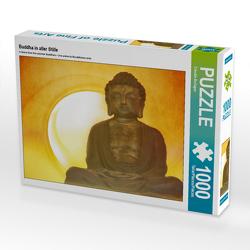 CALVENDO Puzzle Buddha in aller Stille 1000 Teile Lege-Größe 64 x 48 cm Foto-Puzzle Bild von Claudia Burlager