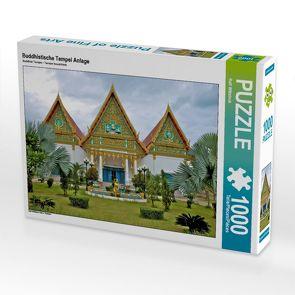 CALVENDO Puzzle Buddhistische Tempel Anlage 1000 Teile Lege-Größe 64 x 48 cm Foto-Puzzle Bild von Ralf Wittstock