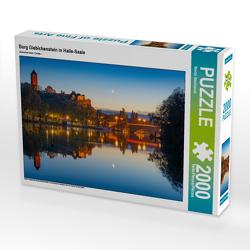 CALVENDO Puzzle Burg Giebichenstein in Halle-Saale 2000 Teile Lege-Größe 90 x 67 cm Foto-Puzzle Bild von Martin Wasilewski