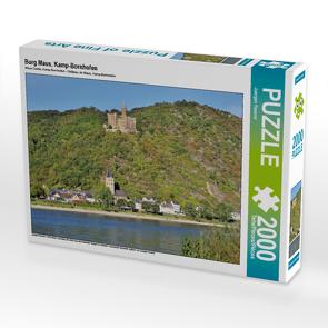 CALVENDO Puzzle Burg Maus, Kamp-Bornhofen 2000 Teile Lege-Größe 90 x 67 cm Foto-Puzzle Bild von Juergen Feuerer