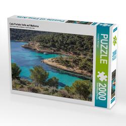 CALVENDO Puzzle Cala Portals Vells auf Mallorca 2000 Teile Lege-Größe 90 x 67 cm Foto-Puzzle Bild von Christian Müringer