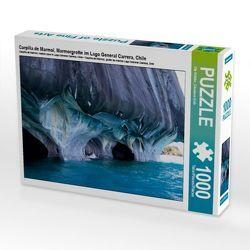 CALVENDO Puzzle Carpilla de Marmol, Marmorgrotte im Lago General Carrera, Chile 1000 Teile Lege-Größe 64 x 48 cm Foto-Puzzle Bild von Ute Köhler von Göb,  Clemens, Köhler,  Ute