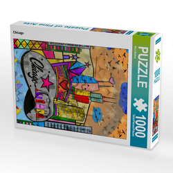 CALVENDO Puzzle Chicago 1000 Teile Lege-Größe 48 x 64 cm Foto-Puzzle Bild von Nico Bielow