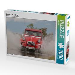CALVENDO Puzzle Citroën 2CV – Ente rot 1000 Teile Lege-Größe 64 x 48 cm Foto-Puzzle Bild von Meike Bölts