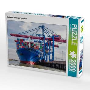CALVENDO Puzzle Container-Riese am Terminal 2000 Teile Lege-Größe 90 x 67 cm Foto-Puzzle Bild von Jörg Hoffmann
