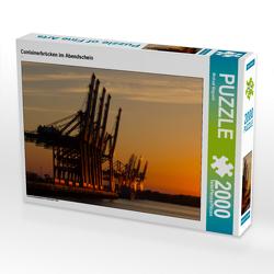 CALVENDO Puzzle Containerbrücken im Abendschein 2000 Teile Lege-Größe 90 x 67 cm Foto-Puzzle Bild von Michael Bogumil