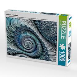 CALVENDO Puzzle Das blaue Federkleid 1000 Teile Lege-Größe 64 x 48 cm Foto-Puzzle Bild von Claudia Burlager