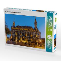 CALVENDO Puzzle Das historische Rathaus bei Nacht 2000 Teile Lege-Größe 90 x 67 cm Foto-Puzzle Bild von Christian Müller