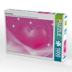 CALVENDO Puzzle Das rosa Herz 1000 Teile Lege-Größe 64 x 48 cm Foto-Puzzle Bild von Claudia Burlager