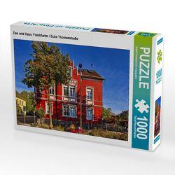 CALVENDO Puzzle Das rote Haus, Frankfurter / Ecke Thomasstraße 1000 Teile Lege-Größe 64 x 48 cm Foto-Puzzle Bild von Detlef Thiemann DT-Fotografie