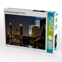 CALVENDO Puzzle Das Schwanentor am Innenhafen Duisburg 2000 Teile Lege-Größe 90 x 67 cm Foto-Puzzle Bild von Joachim Petsch