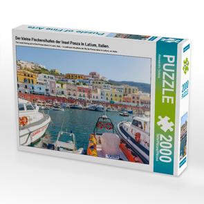 CALVENDO Puzzle Der kleine Fischereihafen der Insel Ponza in Latium, Italien. 2000 Teile Lege-Größe 90 x 67 cm Foto-Puzzle Bild von Alessandro Tortora