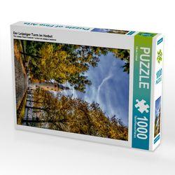 CALVENDO Puzzle Der Leipziger Turm im Herbst 1000 Teile Lege-Größe 48 x 64 cm Foto-Puzzle Bild von Oliver Friebel von Friebel,  Oliver