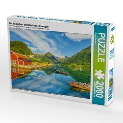 CALVENDO Puzzle Der Sognefjord bei Balestrand, Norwegen 2000 Teile Lege-Größe 90 x 67 cm Foto-Puzzle Bild von Jürgen Feuerer