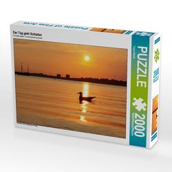 CALVENDO Puzzle Der Tag geht Schlafen 2000 Teile Lege-Größe 90 x 67 cm Foto-Puzzle Bild von Tanja Riedel