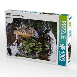 CALVENDO Puzzle Der Tiger – ein gestreifter Jäger 1000 Teile Lege-Größe 48 x 64 cm Foto-Puzzle Bild von Cloudtail the Snow Leopard