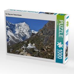 CALVENDO Puzzle Der Weg zum Thame-Kloster 1000 Teile Lege-Größe 64 x 48 cm Foto-Puzzle Bild von Ulrich Senff