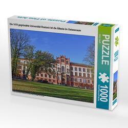 CALVENDO Puzzle Die 1419 gegründete Universität Rostock ist die Älteste im Ostseeraum 1000 Teile Lege-Größe 64 x 48 cm Foto-Puzzle Bild von Ulrich Senff