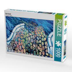 CALVENDO Puzzle Die Flucht 1000 Teile Lege-Größe 64 x 48 cm Foto-Puzzle Bild von Ralf Wittstock