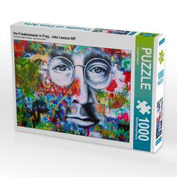 CALVENDO Puzzle Die Friedensmauer in Prag – John Lennon RIP 1000 Teile Lege-Größe 64 x 48 cm Foto-Puzzle Bild von Danijela Hospes