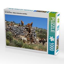 CALVENDO Puzzle Die Insel Kreta – Städte, Schluchten und Meer 1000 Teile Lege-Größe 64 x 48 cm Foto-Puzzle Bild von Anja Frost