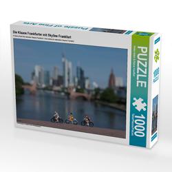 CALVENDO Puzzle Die Klaane Frankfurter mit Skyline Frankfurt 1000 Teile Lege-Größe 64 x 48 cm Foto-Puzzle Bild von Heike Adam & Rainer Kauffelt