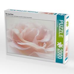 CALVENDO Puzzle Die rosa Rose 2000 Teile Lege-Größe 90 x 67 cm Foto-Puzzle Bild von Claudia Burlager
