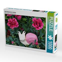 CALVENDO Puzzle Die Schnecke im Garten 1000 Teile Lege-Größe 64 x 48 cm Foto-Puzzle Bild von Sabine Hampe-Neves