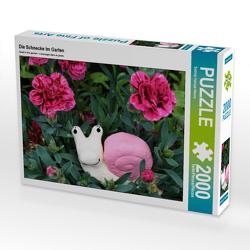 CALVENDO Puzzle Die Schnecke im Garten 2000 Teile Lege-Größe 90 x 67 cm Foto-Puzzle Bild von Sabine Hampe-Neves