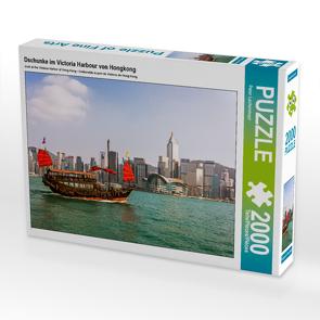 CALVENDO Puzzle Dschunke im Victoria Harbour von Hongkong 2000 Teile Lege-Größe 90 x 67 cm Foto-Puzzle Bild von Peter Lachenmayr