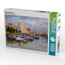 CALVENDO Puzzle Düsseldorf Marina 1000 Teile Lege-Größe 64 x 48 cm Foto-Puzzle Bild von Michael Valjak