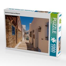 CALVENDO Puzzle Durch die Gassen auf Nisyros 1000 Teile Lege-Größe 64 x 48 cm Foto-Puzzle Bild von Christian Haidl