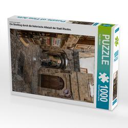 CALVENDO Puzzle Ein Streifzug durch die historische Altstadt der Stadt Rhodos. 1000 Teile Lege-Größe 48 x 64 cm Foto-Puzzle Bild von Frank Mitchell