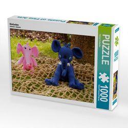 CALVENDO Puzzle Elefanten 1000 Teile Lege-Größe 64 x 48 cm Foto-Puzzle Bild von Helmut Schneller